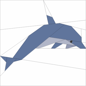 Paper pieced dolphin